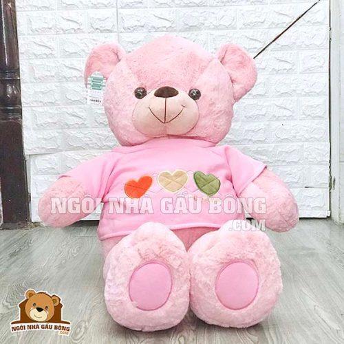 Gấu Áo Thêu Tim