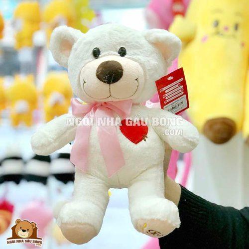 Gấu Nơ Thêu Tim