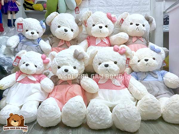 Teddy Váy Chấm Bi
