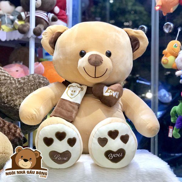 Gấu Khăn thêu mịn