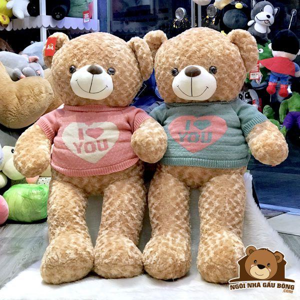 Gấu Áo Len I Love U