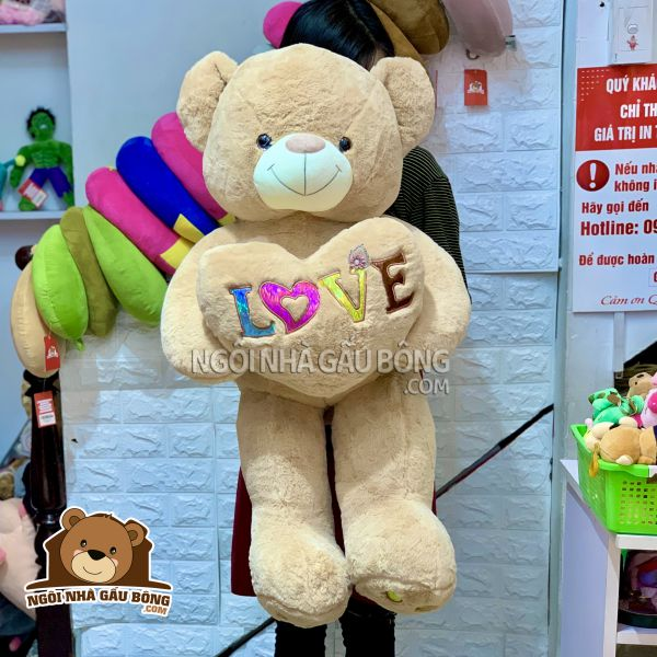 Gấu Tim Love Màu